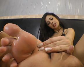 Anelly loves to put her gorgeous feet in slaves' mouths
